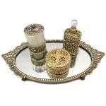 Antique Gold Bronze Vanity Set