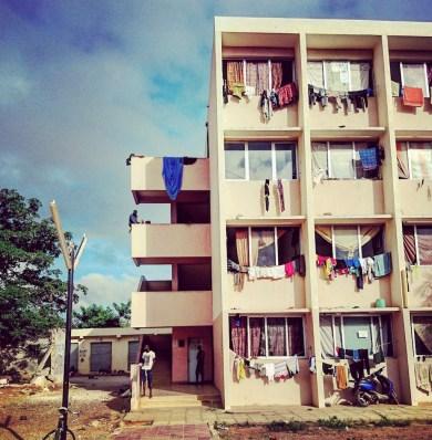 Les logements étudiants de l'UCAD - Photo Armelle Peuvion-Weiss