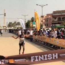 Le vainqueur du 42 km. ©Marathon de Dakar