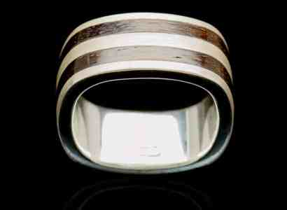 Silver Wood Ring-r246