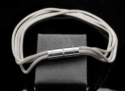 Silver Mesh Chain with Bayonet Lock Pendant-pn89sm