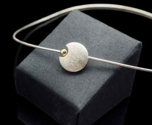 Sterling Silver Pendant with 18k Yellow Gold (PN49)
