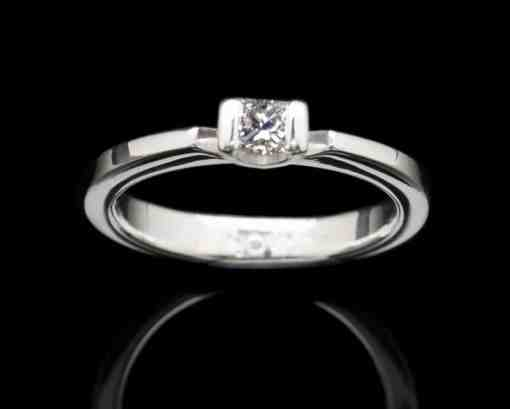 White Gold Ring with Diamond (GR16SQ dia)
