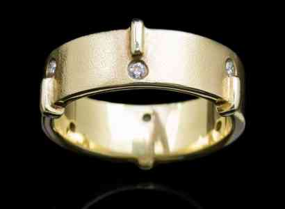 18k Yellow Gold ring with Diamonds (GR19dia)