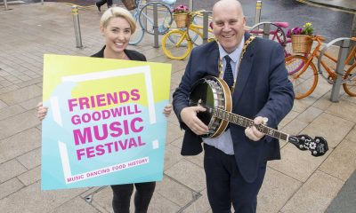 Mayor of Mid and East Antrim Cllr Paul Reid with Events Officer Sarah Davis