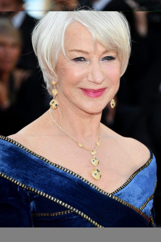 """Actress Helen Mirren attends the screening of """"Girls Of The Sun (Les Filles Du Soleil)"""" during the 71st annual Cannes Film Festival at Palais des Festivals on May 12, 2018 in Cannes, France. Credit: Venturelli/WireImage"""