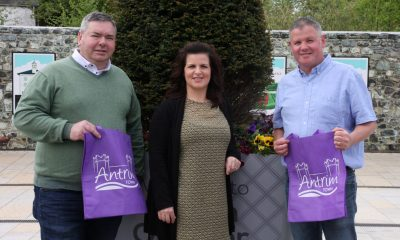 Michael Johnson (Chair of Antrim Town Team), Karen Uprichard (Antrim and Newtownabbey Borough Council) and Leslie Harte (Vice Chair) look forward to the year ahead for the Town.