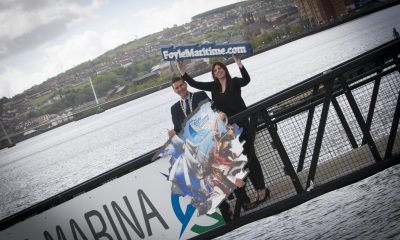 The Deputy Mayor of Derry City and Strabane District Council, John Boyle pictured at the launch of the Foyle Maritime Festival 2018 at quayside on Thursday afternoon with Anne-Marie Gray, Marketing Officer, DCSDC. This year's event will run from July 14-22. Credit: JIm McCafferty Photography