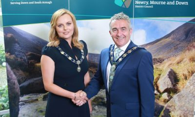 Newry, Mourne and Down District Council elects new Chairman, Councillor Mark Murnin (SDLP) and Vice Chairperson, Councillor Oksana McMahon (SF) at its recent Annual Meeting.