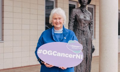 Pictured is: Helen Setterfield, chair, OG Cancer NI outside the Cancer Centre at the Belfast City Hospital ahead of the launch of the OG Cancer 2021 Catch It Early campaign which is encouraging people to look for the signs of oesophageal-gastric cancers. More info at https://ogcancerni.com Photo by Francine Montgomery / Excalibur Press For more information contact publicist Tina Calder, Excalibur Press, tina@excaliburpress.co.uk, 07305354209. Alternatively contact publicity assistant Hannah Chambers at publicity@excaliburpress.co.uk