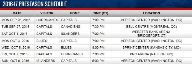washington-capitals-pre-season-schedule