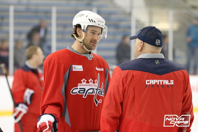 capitals-practice-47-justin-williams-coach-barry-trotz