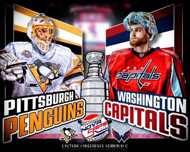 Penguins Versus Capitals Graphic