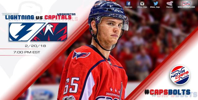 Lightning @ Capitals Game Graphic