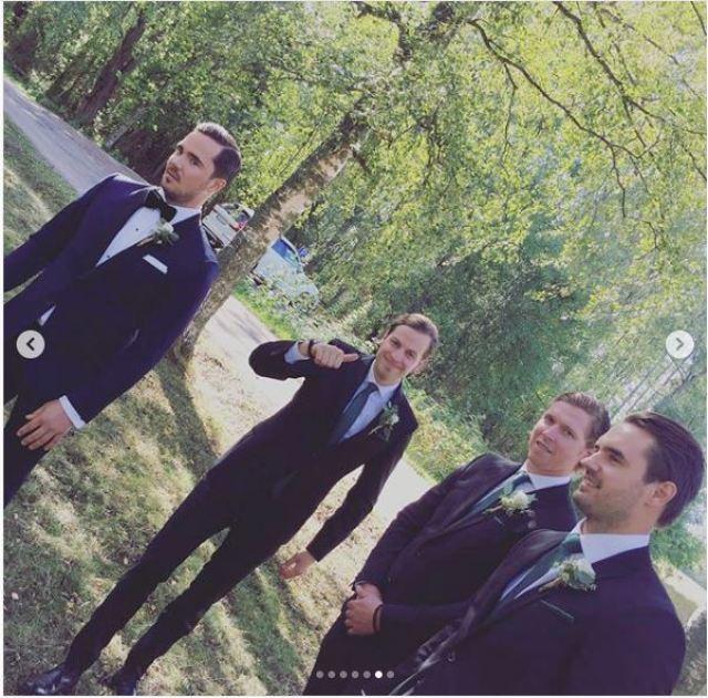 Groomsmen at Johansson Wedding