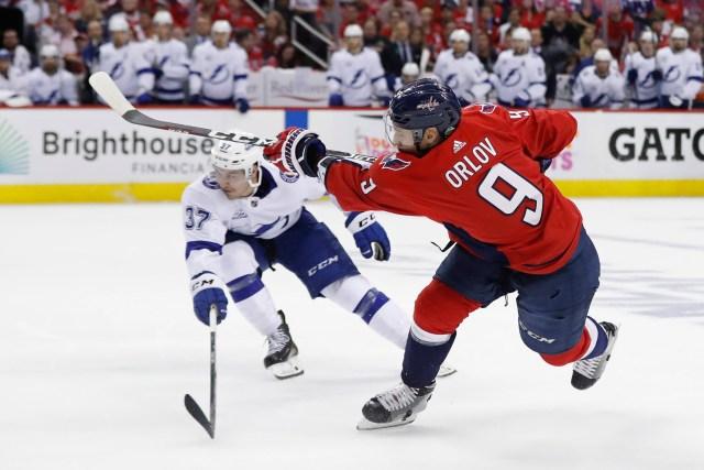 NHL: Stanley Cup Playoffs-Tampa Bay Lightning at Washington Capitals