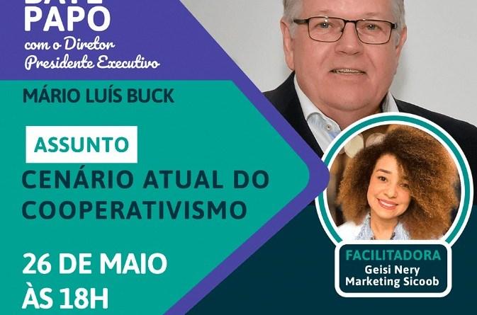 Sicoob Coocrelivre vai promover Live com o Diretor Presidente Mário Luis Buck