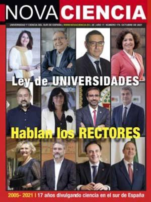 Portada de Nova Ciencia octubre 2021. Los rectores se posicionan en contra de la LOSU.