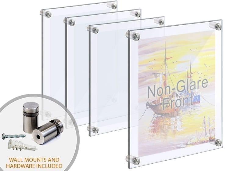 frameless acrylic poster frames