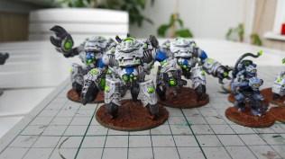 Ghar Battlesuit Assault Team Blue