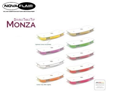 Monza Double Table Top Plate Design Integrated LED Lighting Nova Flair UK