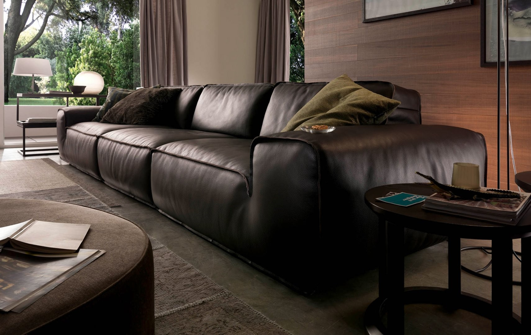 Avenue Leather Sectional By Chateau DAx Italia Is Available At Nova Interiors Modern Furniture