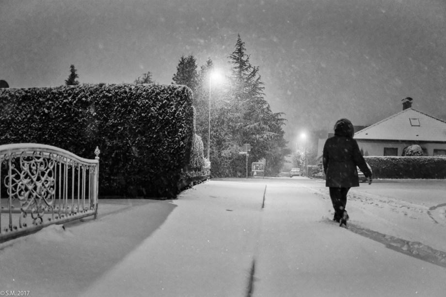 Schneetreiben im Advent