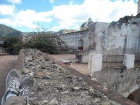 The second floor of the ruins of Convento de la Merced.