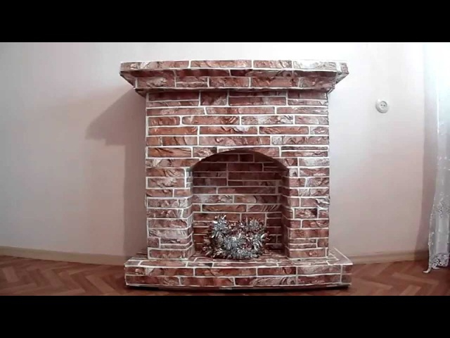 Cardboard False Fireplace.