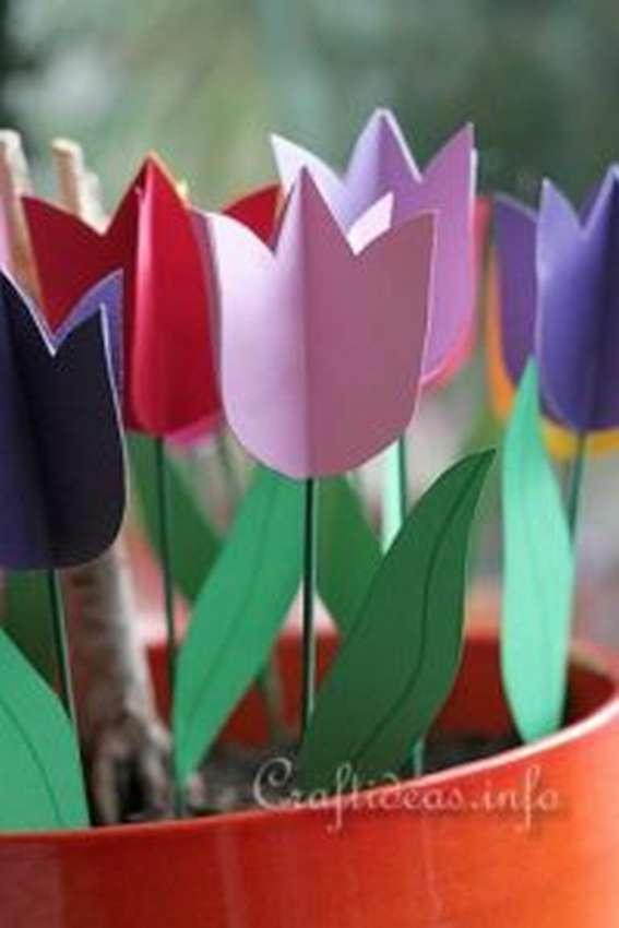 Paper Tulips para sa mga nagsisimula