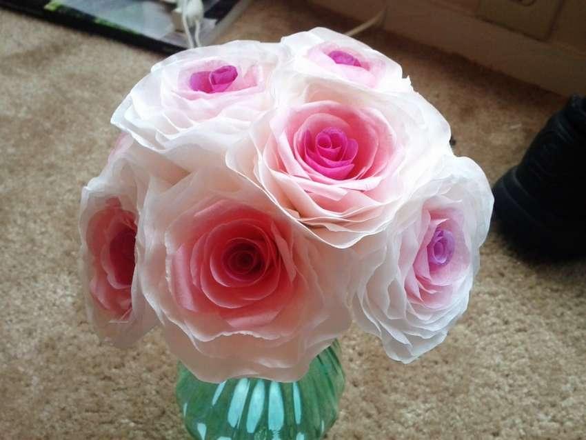 Γάμος λουλούδια από φίλτρα καφέ