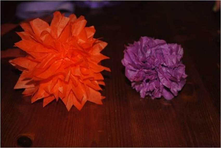 Χρώμα λουλουδιών χαρτοπετσέτας