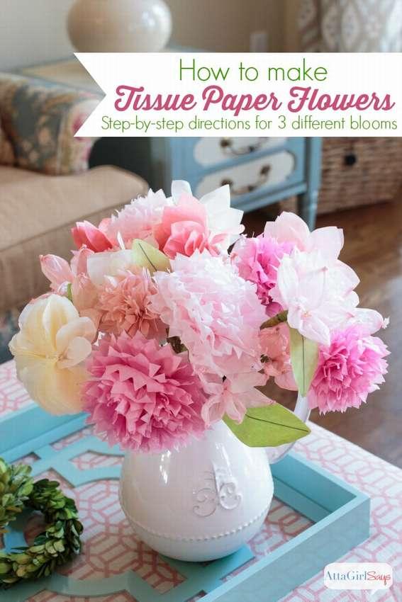 букет цветов из салфеток своими руками