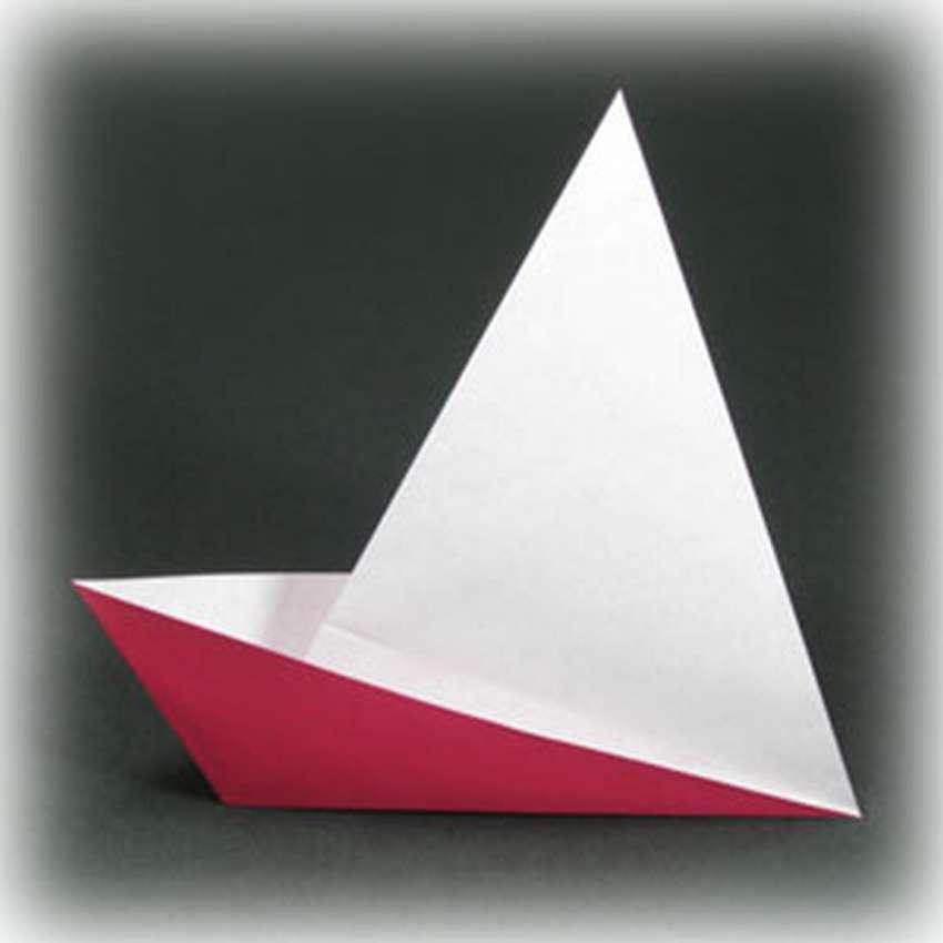 Eenvoudige origami papieren boot