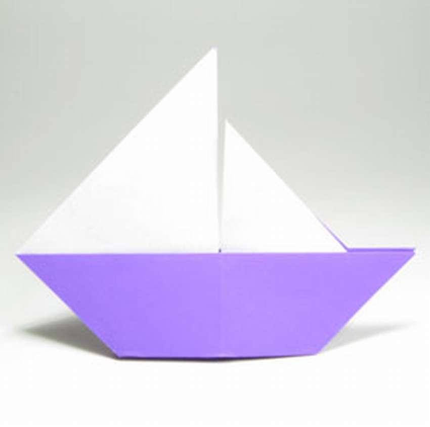 как сделать парусник оригами