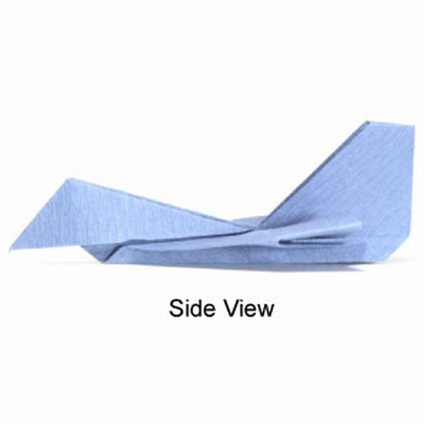 самолетик из бумаги истребитель