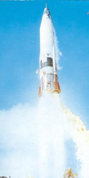 Atlas Rocket used to launch SCORE; abyss.uoregon.edu