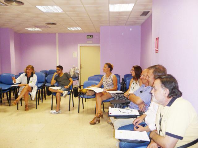 Una de las sesiones de la Escuela de Pacientes.