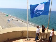Izado de la Bandera Azul de Balerma.