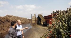 Manuel Gómez ha visitado una planta de compostaje.