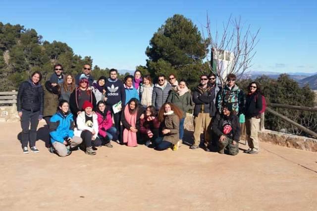 Estudiantes de CC. Ambientales en Sierra de María-Los Vélez.