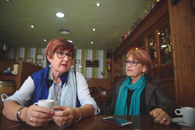 Marisa Zapata y María Jesús García.