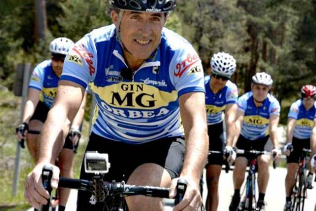 Pedro Delgado todavía disfruta con la bicicleta.