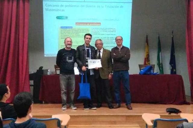 Alumno del IES Alborán ganador del premio del Boletín Matemático de la UAL.