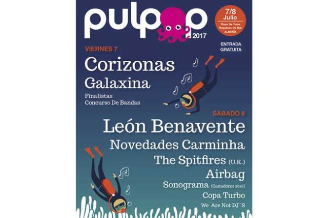 Raquetas celebrará el Pulpop Festival del 7 al 8 de julio