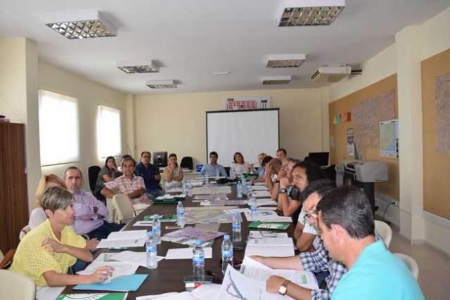 Reunión del Consejo de Turismo de Níjar, este martes.