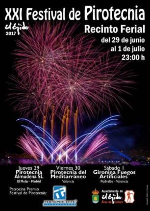Cartel del festival de Pirotecnia.