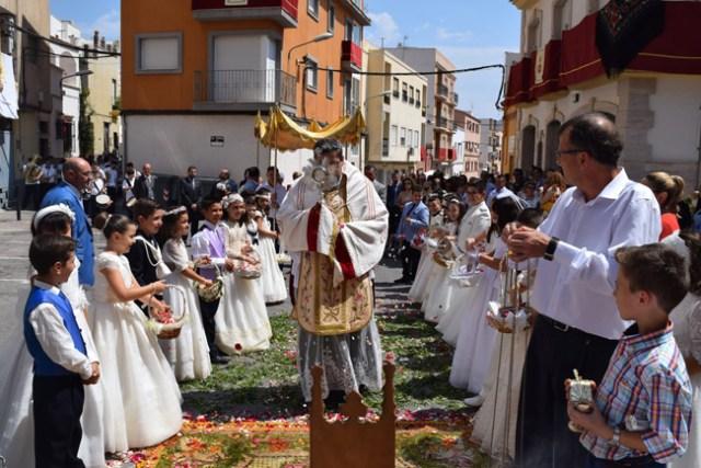 Celebración del Corpus en Gádor.