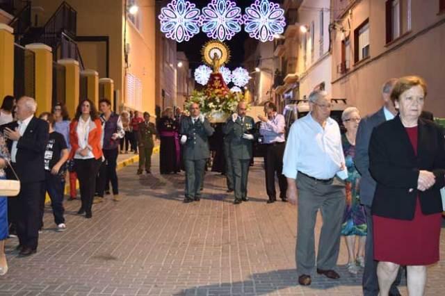 Procesión de la Virgen del Pilar en la Feria de Gádor.