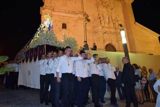 Procesión de la Virgen del Rosario en Gádor.